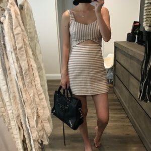 Zara Beige Cut Out Skirt Shorts Romper Dress xs s